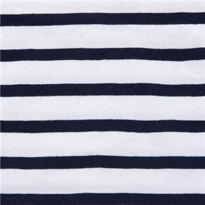 フランス軍ボーダーTシャツレプリカ JU038YN ホワイト×ネイビー 92サイズ 綿100%