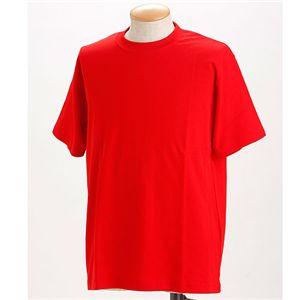 ドライメッシュTシャツ 2枚セット 白+レッド L