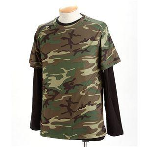 ドライクール ナイスカモフラ半袖Tシャツ&ロングTシャツ2枚 セット ウッドランド XL
