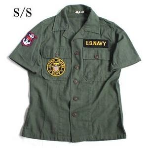 USタイプ OG-107 ファティーグシャツ カスタム NAVY 半袖 15(M)