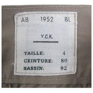 ベルギー軍1952,Sニッカボッカ復刻番 カーキ 【サイズ2】