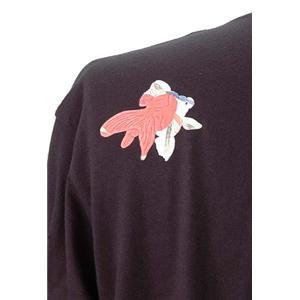語れる立体和柄ロングTシャツ S-148M8/七匹金魚 S(NP)