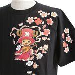 むかしむかし ワンピースコレクション 和柄半袖Tシャツ S-2441/チョッパー弁財天 黒M