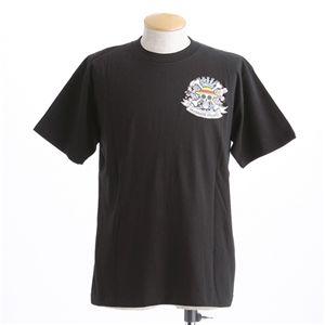 むかしむかし ワンピースコレクション 和柄半袖Tシャツ  S-2449 麦わらパイレーツ 黒 4L