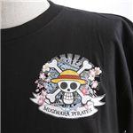 むかしむかし ワンピースコレクション 和柄半袖Tシャツ S-2449/麦わらパイレーツ 黒M