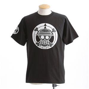 むかしむかし ワンピースコレクション 和柄半袖Tシャツ  S-2450/家紋海賊旗 黒3L