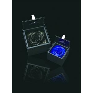 【母の日ギフト5月5日まで】AMOROSA(アモローサ)ダイヤモンドローズBOX ブルー×黒BOX