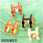 HERMES ポップアッシュ ペンダント ORANGE/silver