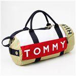 TOMMY HILFIGER(トミーヒルフィガー)ボストンバッグ L500039 カーキー/ネイビー