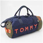 TOMMY HILFIGER(トミーヒルフィガー)ボストンバッグ L500039 グリーン/ネイビー