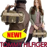 TOMMY HILFIGER(トミー・フィルフィガ―) 迷彩柄 ミニダッフルバッグ Mini Duffle cam