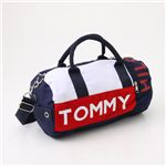 TOMMY HILFIGER(トミーフィルフィガー) ミニダッフルバッグ Mini Duffle I 467・Navy×Red