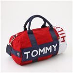 TOMMY HILFIGER(トミーフィルフィガー) ミニダッフルバッグ Mini Duffle I 607・Red×Combo