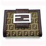 FENDI フェンディ ズッキーノ Wホック長財布 【B】8M0035TN9LK9/MORO(ベージュ×ブラウン)