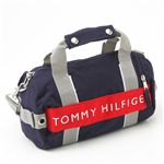 TOMMY HILFIGER(トミーフィルフィガー)マイクロミニダッフルバッグ MICRO MINI DUFFLE L200150-467 Navy×Red