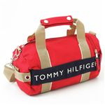 TOMMY HILFIGER(トミーフィルフィガー) マイクロミニボストンバッグ MICRO MINI DUFFLE L200150-600・Red×Navy