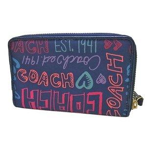 COACH(コーチ)F48353 B4/MC ラウンドジップウォレット マルチカラー