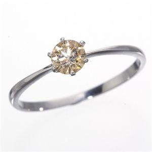 K18/WG 0.25ctシャンパンゴールドダイヤモンドリング 19号