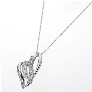 K18/0.5ctスウィート10ダイヤモンドペンダント ホワイトゴールド
