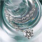 純プラチナPT1000/0.2ctダイヤモンドペンダントの詳細ページへ