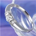 0.28ctプラチナダイヤモンドデザインリング 21号の詳細ページへ