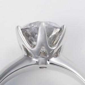 Pt900超大粒1.5ctダイヤモンドリング 17号