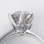 プラチナ(Pt900)大粒1.5ctダイヤモンドリング(指輪)184777 13号