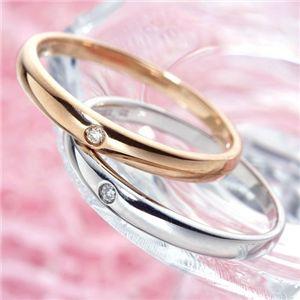 激安 1粒ダイヤモンドリング  K18ピンクゴールド・ホワイトゴールド