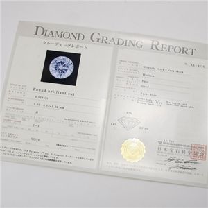 Pt0.5ct ダイヤモンドヴェネチアンペンダントの安心な鑑定書