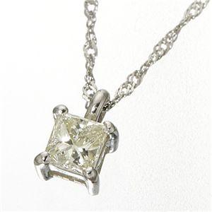 ダイヤモンドプリンセスカットペンダント プラチナ