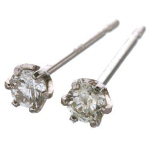 18金ピンクゴールドダイヤ0.1ctピアス&プラチナ900ダイヤ計0.1ctピアス