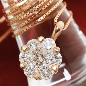 K18PG インビジブルセッティングダイヤモンドネックレス(18金ピンクゴールド)のデザイン