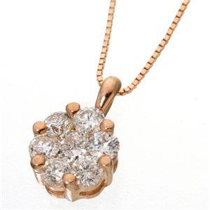K18PG インビジブルセッティングダイヤモンドネックレス(18金ピンクゴールド)の宝石