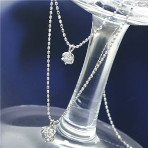 プラチナダイヤモンド2連ネックレス 計0.5ct