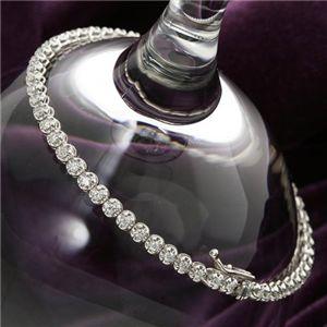 シルバー 1ctダイヤモンドテニスブレスレット