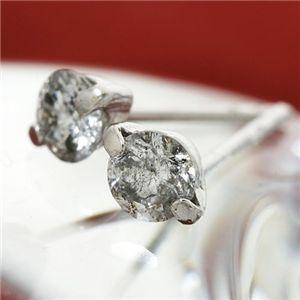K18 0.3ct2ポイントセッティングダイヤモンドピアス