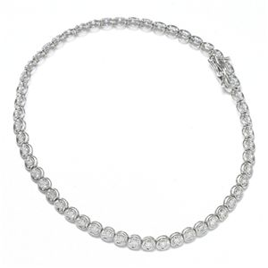 K18 1CTダイヤモンドテニスブレスレット WG(ホワイトゴールド)