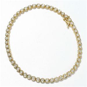K18 1CTダイヤモンドテニスブレスレット YG(イエローゴールド)