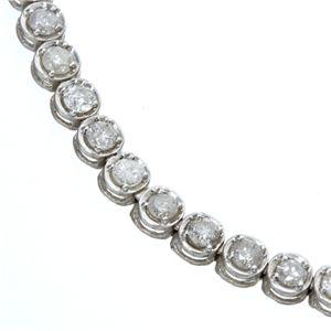 K18WG2ctダイヤモンドテニスブレスの宝石