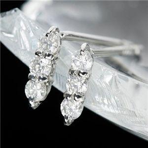 K10ダイヤモンドトリプルピアスの拡大画像