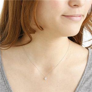 プラチナ(PT900) 0.4ct ダイヤモンドペンダントを着けたイメージ写真