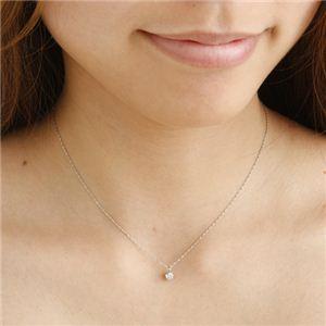 プラチナ(PT1000) 0.3ct ダイヤモンドペンダントを着けたイメージ写真