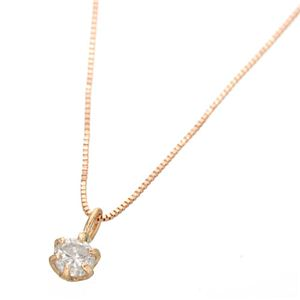 0.1ctダイヤモンドペンダント/ネックレス(ベネチアンチェーン) 18Kピンクゴールド