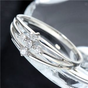 0.1ctダイヤモンドサザンクロスシルバーリング 7号