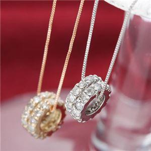 K18WGダイヤモンドエタニティペンダント ホワイトゴールド