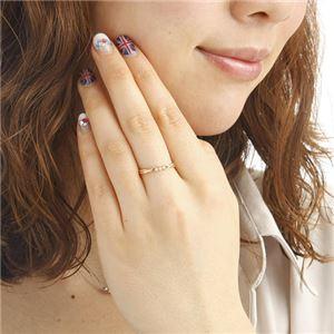 激安 K18ダイヤモンドデザインリング0.04ct 7号