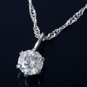純プラチナ 0.1ctダイヤモンドペンダント スクリューチェーン