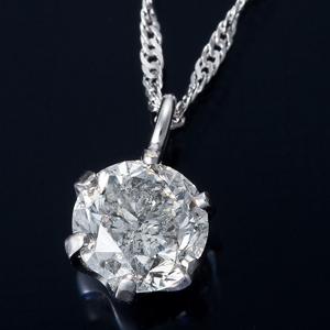 純プラチナ 0.3ctダイヤモンドペンダント スクリューチェーン