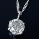純プラチナ 0.3ctダイヤモンドペンダント/ネックレス スクリューチェーン