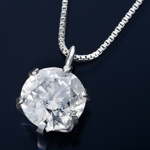 純プラチナ 0.7ctダイヤモンドペンダント/ネックレス ベネチアンチェーン
